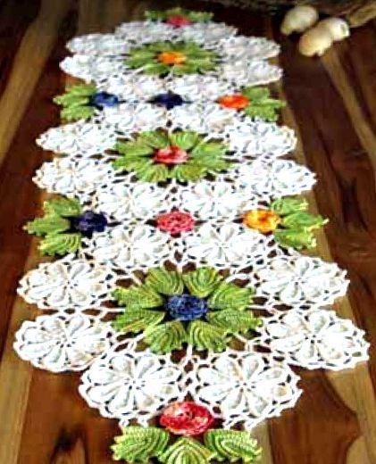 Салфетка с цветами. Схемы