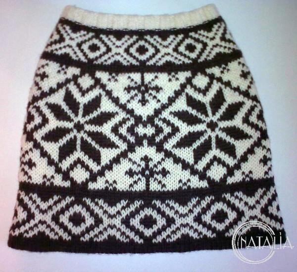 Зимние юбки крючком и спицами