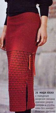 Как связать юбку спицами зимнюю
