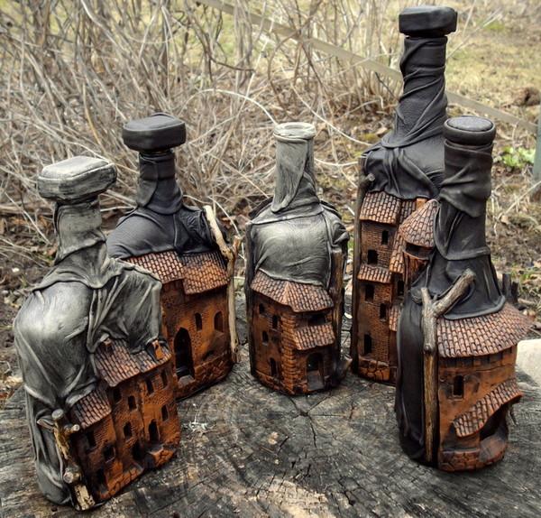 Оформление бутылок для мужчины своими руками