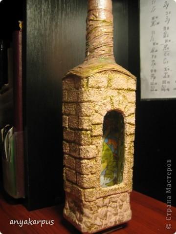 Мастер класс декора бутылок кожей