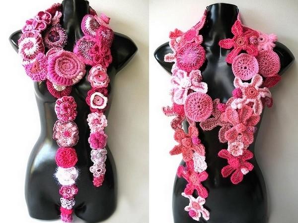 Розовый вязаный фриформ ЗДЕСЬ