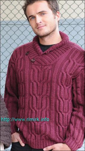 Мужской бордовый пуловер от