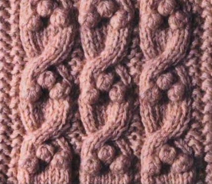 Вязание рисунок жгутами