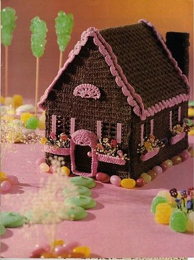 Вязаные пряничные домики.