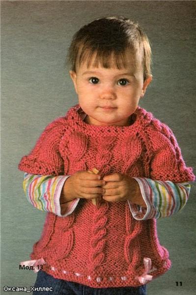 Вязание девочкам жилеты