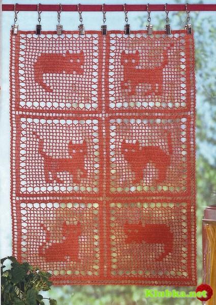 Филейное вязание. Схемы ЗДЕСЬ