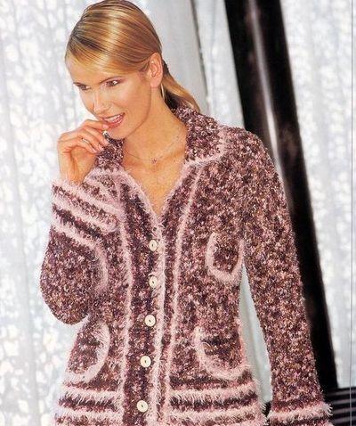 Модное вязание кофт спицами.  Вам потребуется: пряжа Anny Blatt...  Меланжевая модная вязаная кофта спицами...