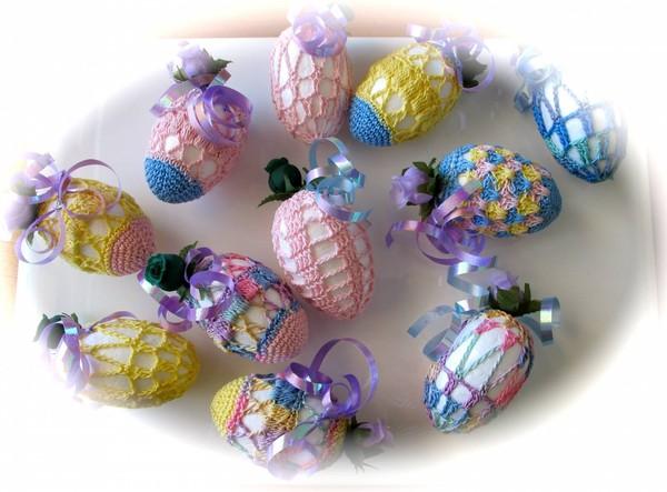 Вязаные яйца (К Пасхе)