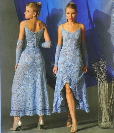 Платье из пятиугольников и
