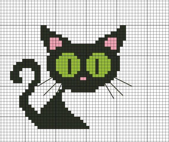 Кошки: вышивка и филейное