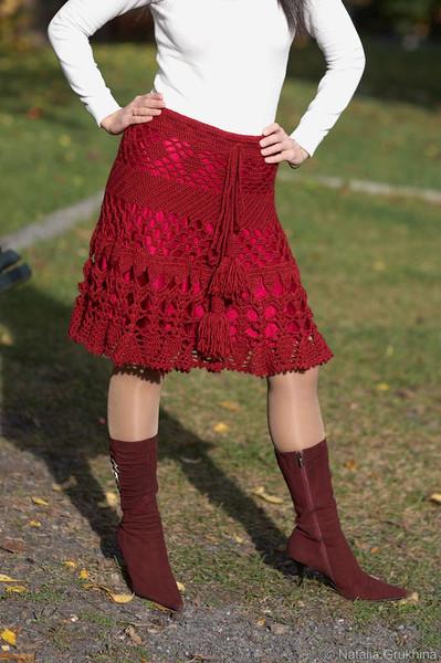 Вязаная юбка по мотивам