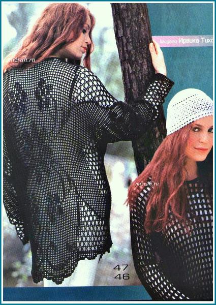 Туника и пуловер филейным