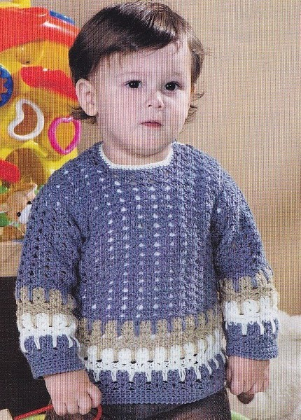 Пуловер для мальчика связанный