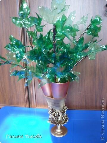 Как сделать вазу цветок из пластиковой бутылки своими руками