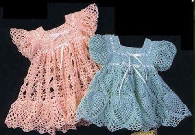 Реглан крючком на платье ребенку