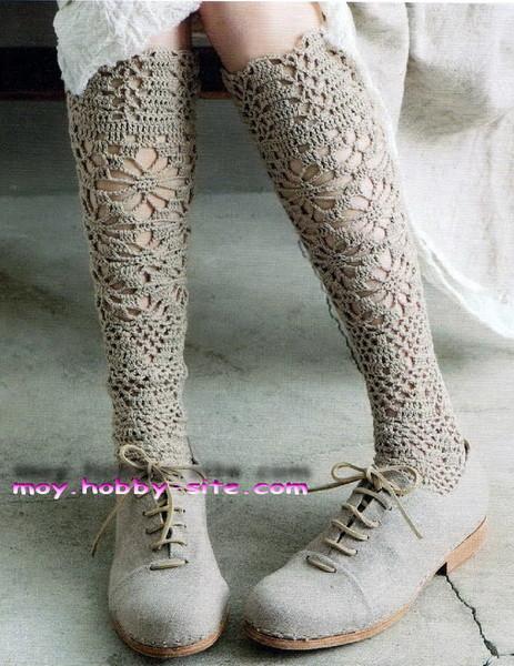 Можно вязать носки и для лета!