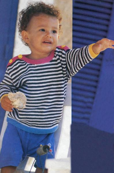 Вязаный детский джемпер