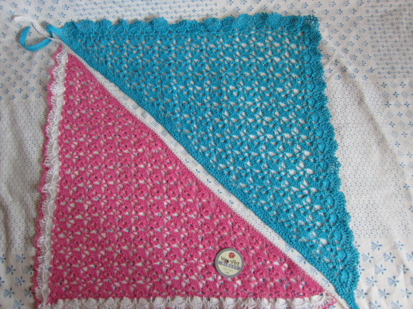 схему вязания шали.