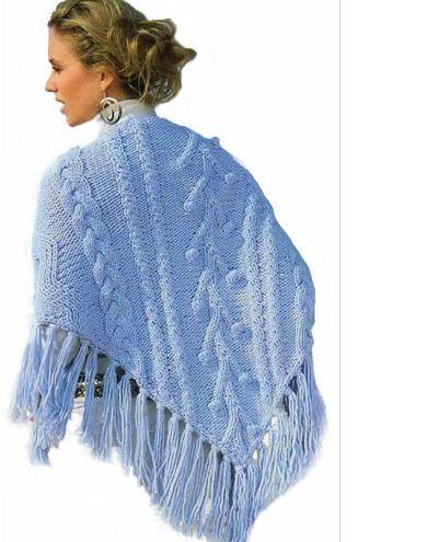 Голубая шаль. Описание и схемы