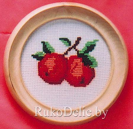 Вышивка крестом для детей яблоко