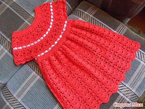 Платье крючком для самых маленьких схема