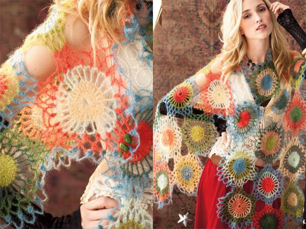 Воздушный шарф-яркое