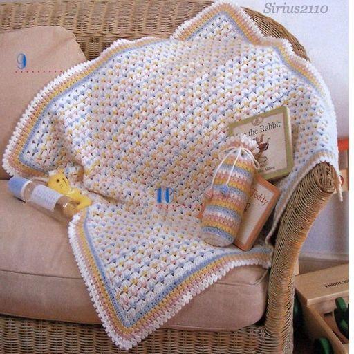 Детский плед. Схемы вязания
