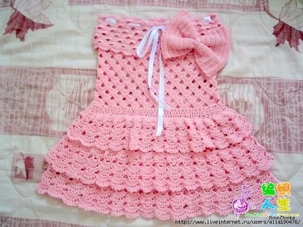 Платье и штанишки для девочки.
