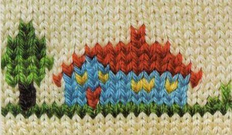 Вышивка по вязаному фото