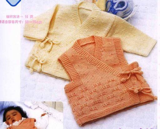 Детский жилет и пуловер Спицы