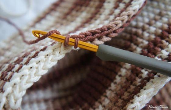 Техника вязания плотного