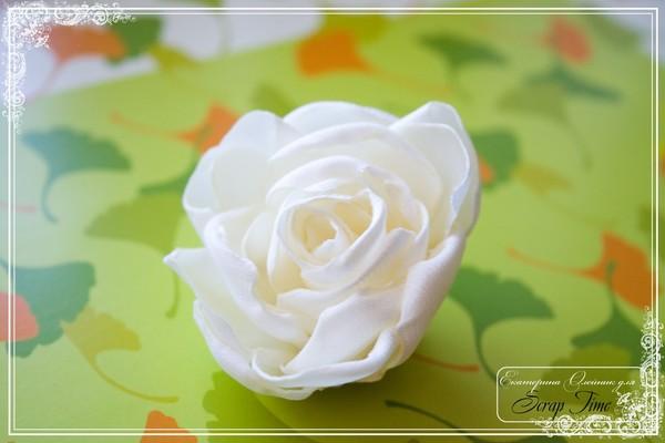 Шьем розу на сумке мастер класс сделай сам #12