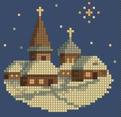 Новогодне Зимние мини-вышивки.
