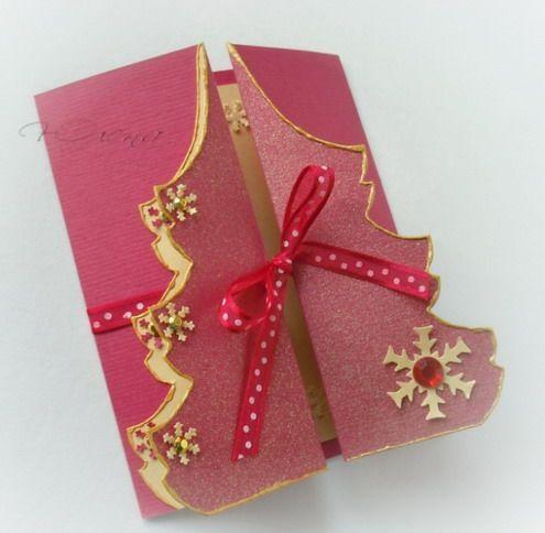Новогодняя открытка-елочка