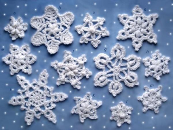 """""""Часть 1. Новогодние трафареты.  Научить вас вырезать снежинки.  МК.  Вязаные снежинки крючком схемы."""