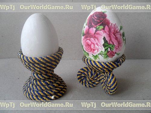 Подставка для яиц сделать своими руками