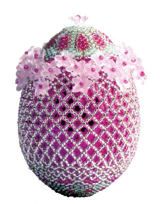 Пасхальное яйцо из бисера.