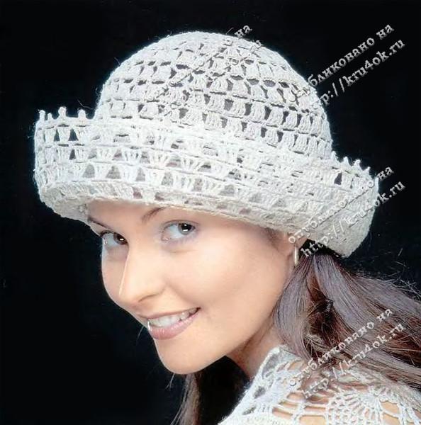 шляпка, связанная крючком.
