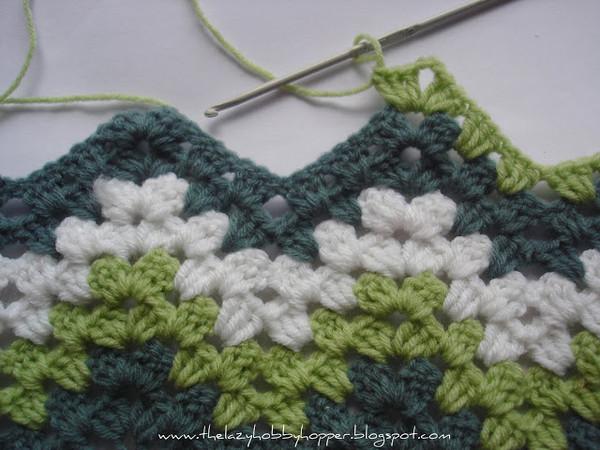 Вязание зигзага крючком.