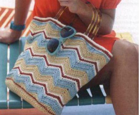 Пляжная сумка. Крючок. Схемы