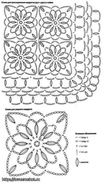 Схема белого пледа ЗДЕСЬ