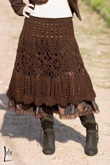 Крючок. Схема юбки ЗДЕСЬ