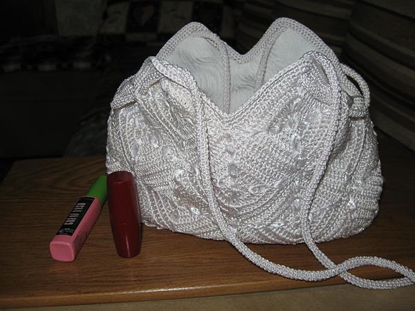 Вязание сумки.