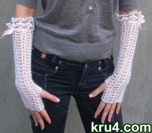 Вяжем варежки, рукавички