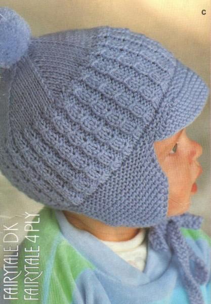 Очень удобная вязанная шапка для мальчика 1 - 1,5 года.  Вяжется шапочка спицами по описанию, которое можно получить...