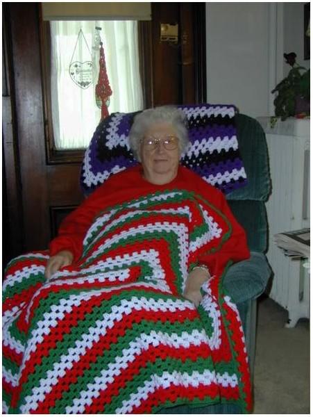 Плед крючком. Секрет бабушки.