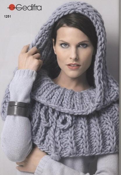 Модное вязание. Шапка – труба.