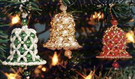 Рождественский колокольчик из бисера своими руками схемы.  Схемы плетения бисером, цветы и.