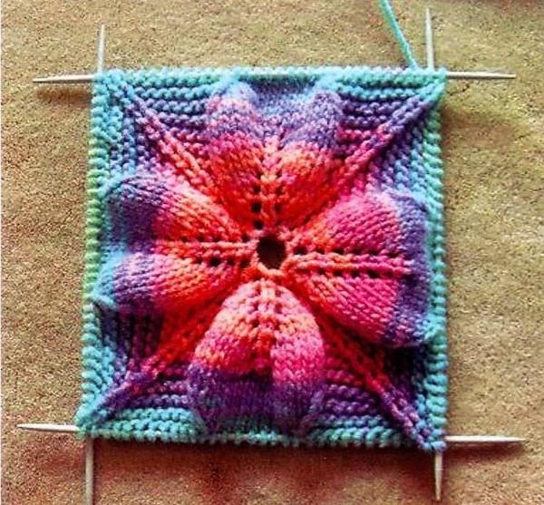 цвету при вязании спицами?
